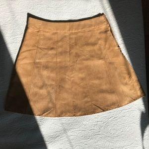 BCBG NEVER WORN Suede Mini-Skirt S2